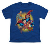 Youth: Justice League America - Superman Collage T-shirts
