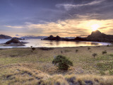 Sunset on One of the Park's Islands, Komodo National Park, Indonesia Photographic Print by  Jones-Shimlock
