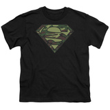 Youth: Superman - Camo Logo T-shirts