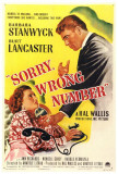 Sorry, Wrong Number Poster