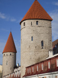 Old City Walls, Tallinn, Estonia Photographic Print by Walter Bibikow