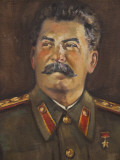 Soviet-Era Art, M.J.V. Stalin By Johannes Saal, 1952, Art Museum of Estonia, Tallinn, Estonia Photographic Print by Walter Bibikow