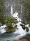 Tarawera Falls, Tarawera River, North Island, New Zealand Photographic Print by David Wall