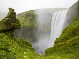 Skogarfoss Waterfall Plunges Over a Volcanic Cliff, Iceland Photographic Print by Don Grall
