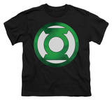 Youth: Green Lantern - Green Chrome Logo T-shirts