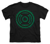Youth: Green Lantern - Green Flame Logo T-shirts