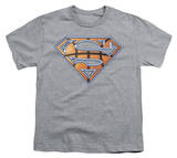 Youth: Superman - Basketball Shield T-Shirt