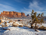 Monument Valley in the Snow, Monument Valley Navajo Tribal Park, Arizona, USA Photographic Print by Walter Bibikow