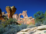 Angel Arch and the Molar in the Salt Creek Valley, Canyonlands National Park, Utah, USA Photographic Print by Bernard Friel