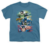 Youth: Justice League America - Action Frames T-shirts