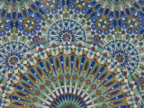 Close-Up of Mosaics in Hassan Ii Mosque, Casablanca, Morocco Fotografisk tryk af Cindy Miller Hopkins