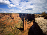 Spider Rock at Junction of Canyon De Chelly and Monument Valley, Canyon De Chelly Ntl Monument, AZ Photographic Print by Bernard Friel