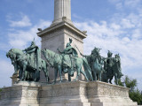 Monument in Heroes' Square, Budapest, Hungary Photographic Print by Jim Engelbrecht
