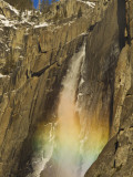 Rainbow on Upper Yosemite Falls in Yosemite National Park, California, USA Photographic Print by Chuck Haney