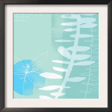 Abstract Flower and Fern Prints