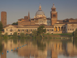 Town View and Palazzo Ducale From Lago Inferiore, Mantua, Italy Photographic Print by Walter Bibikow