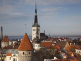 View of Old Town From Toompea, Late Afternoon, Tallinn, Estonia Photographic Print by Walter Bibikow