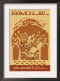 Smiling Squirrel on Bike Art