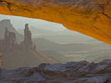 Washerwoman Arch Seen Through Mesa Arch, Canyonlands National Park, Utah, USA Photographic Print by Cathy &amp; Gordon Illg