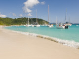 Popular Moorings For Bareboaters and Charter Sail, White Bay, Jost Van Dyke, Bvi Photographic Print by Trish Drury