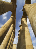 Column With Visual Art Carved Into Them Luxor Temple, Luxor, Egypt Photographic Print by Darrell Gulin