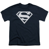 Youth: Superman - Navy & White Shield Shirts