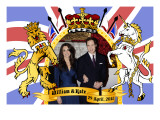 Prince William and Kate Middleton, The Royal Wedding April 29th, 2011 Print