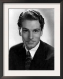 Portrait of Laurence Olivier with Polka Dot Tie Posters
