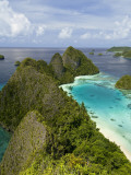 View of Islands Covered With Vegetation, Raja Ampat, New Guinea Island, Indonesia Photographic Print