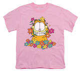 Youth: Garfield - In The Garden T-shirts