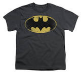 Youth: Batman - Distressed Shield T-shirts