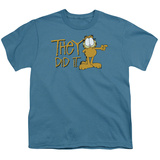 Youth: Garfield - They Did It T-shirts