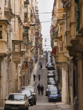 St. Ursula Street, Triq Sant-Orsla, Valletta, Malta Photographic Print by Walter Bibikow