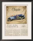Chrysler, Magazine Advertisement, USA, 1928 Posters