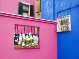 Colorful Burano City Homes, Italy Photographic Print by Terry Eggers