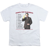 Youth: Monk - Top 10 Phobias T-Shirt