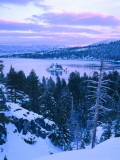 Emerald Bay State Park in Winter at Dusk, Lake Tahoe, California, USA Photographic Print by Scott T. Smith