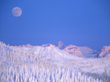 Full Moon Rising Above Glacier National Park Peaks, Whitefish, Montana, USA Photographic Print by Chuck Haney