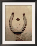Lucky Horse Shoe on Dusty Rose Metallic IV Posters