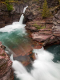 St. Mary Falls, Glacier National Park, Montana, USA Photographic Print by Jamie &amp; Judy Wild