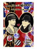 Prince William and Kate Middleton, The Royal Wedding Black and White Photo Scrapbook Plakater