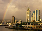 Rainbow Over Honolulu, Hawaii, USA Photographic Print by Savanah Stewart