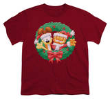 Youth: Garfield - Christmas Wreath Shirts