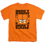 Youth: Garfield - Don't Know Don't Care T-shirts