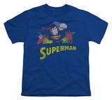 Youth: Justice League America - Superman Rough Distress T-Shirt