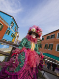 Woman in Costume For the Annual Carnival Festival, Burano Island, Venice, Italy Photographic Print by Jim Zuckerman