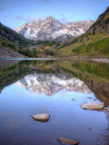 Maroon Bells From Maroon Lake, Maroon Bells-Snowmass Wilderness, Colorado, USA Photographic Print by Jamie & Judy Wild