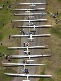 Starting Grid, Fai World Sailplane Grand Prix, Vitacura Airfield, Santiago, Chile Photographic Print by David Wall