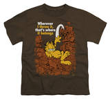 Youth: Garfield - Where It Belongs T-shirts