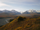 Denali National Park and Preserve, East Fork of Toklat River Across Murie Plain, Alaska, USA Photographic Print by Bernard Friel